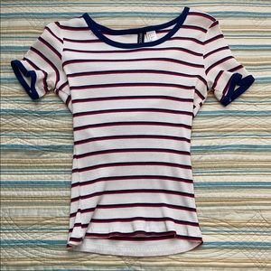Red, White, and Blue Striped Shirt